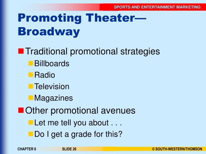 Promoting Theater—Broadway