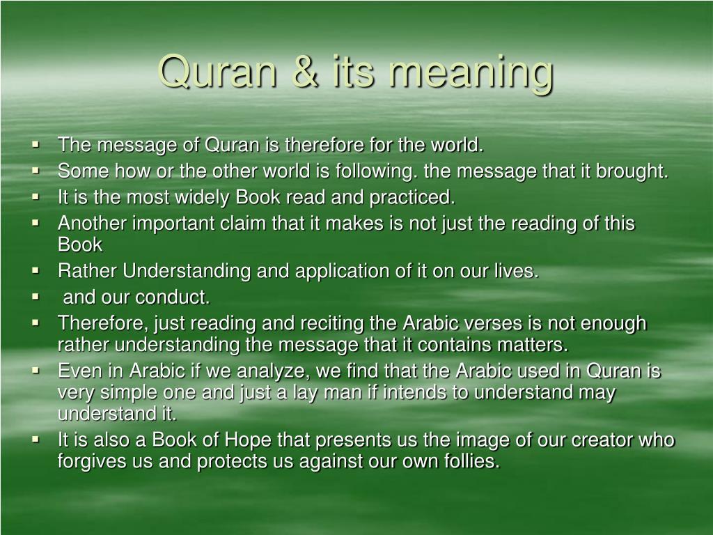 PPT - QURAN PowerPoint Presentation - ID:1757858