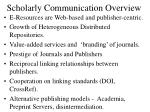 scholarly communication overview