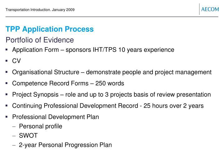 Tpp application process