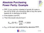 absolute purchasing power parity example