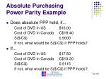 absolute purchasing power parity example1
