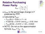 relative purchasing power parity2