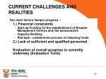 current challenges and realities
