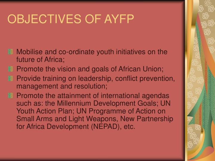 Objectives of ayfp