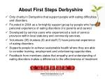 about first steps derbyshire