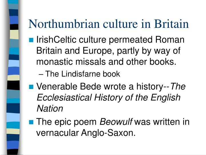 Northumbrian culture in britain