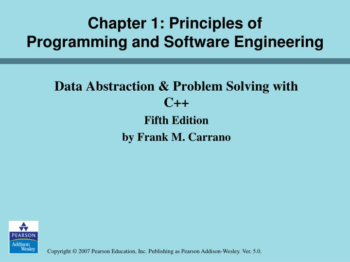 PPT - Chapter 1: Principles of Programming and Software