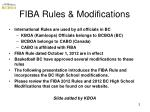 fiba rules modifications