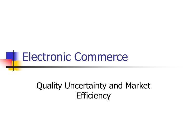 electronic commerce n.