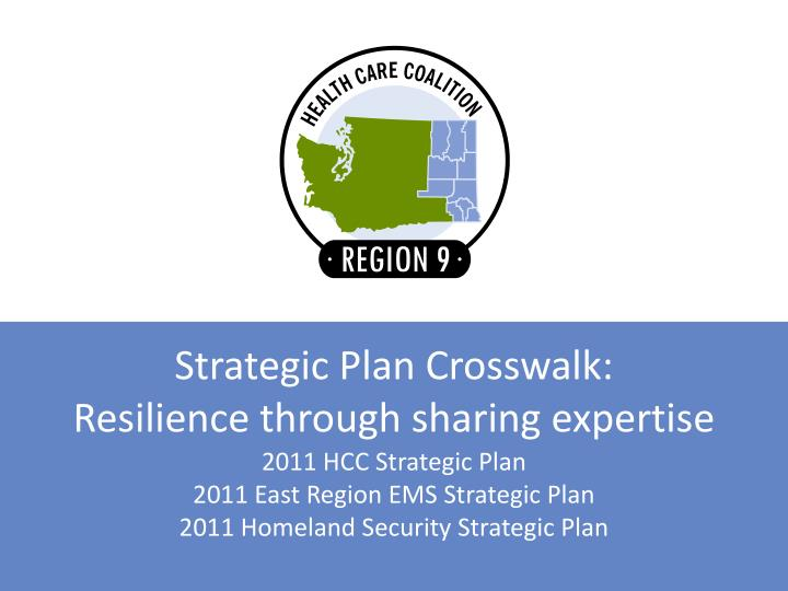 strategic plan crosswalk resilience through sharing expertise n.