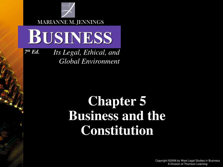 chapter 5 business and the constitution n.