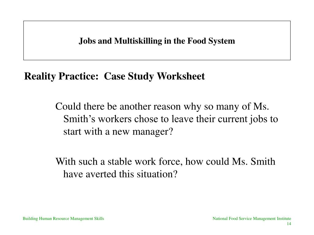 Ppt Jobs And Multiskilling In The Food System Powerpoint
