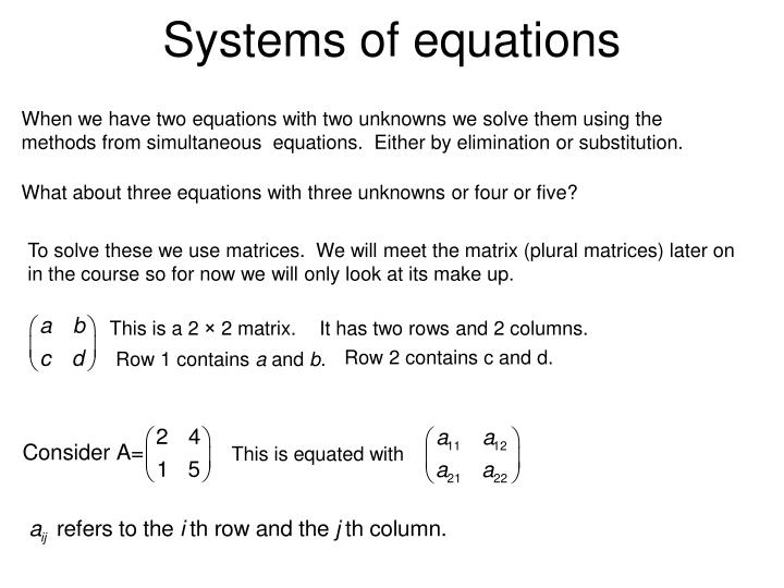 systems of equations n.