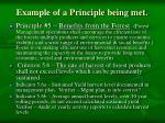 example of a principle being met