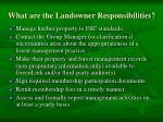 what are the landowner responsibilities