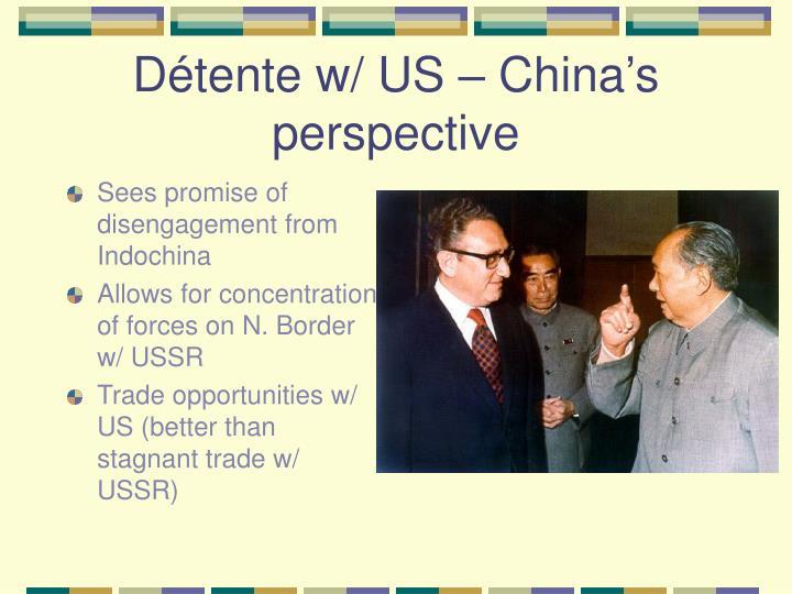 Détente w/ US – China's perspective