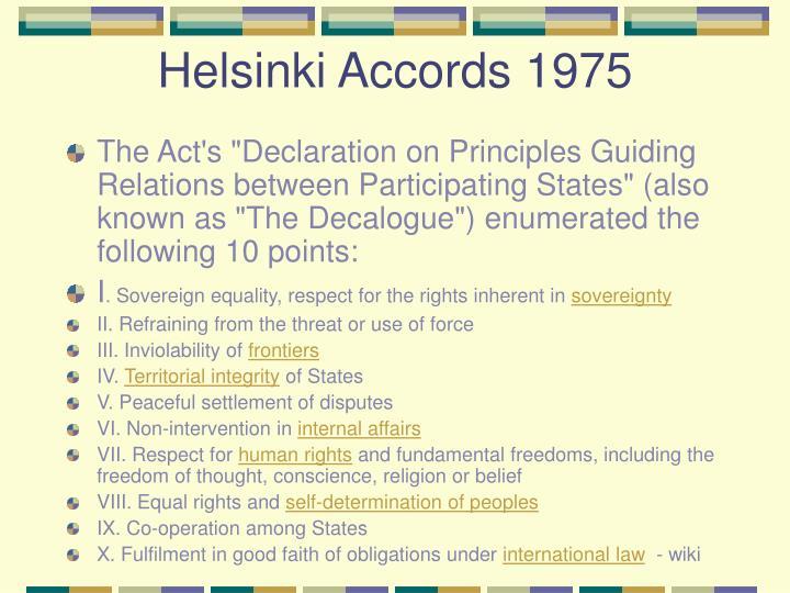Helsinki Accords 1975