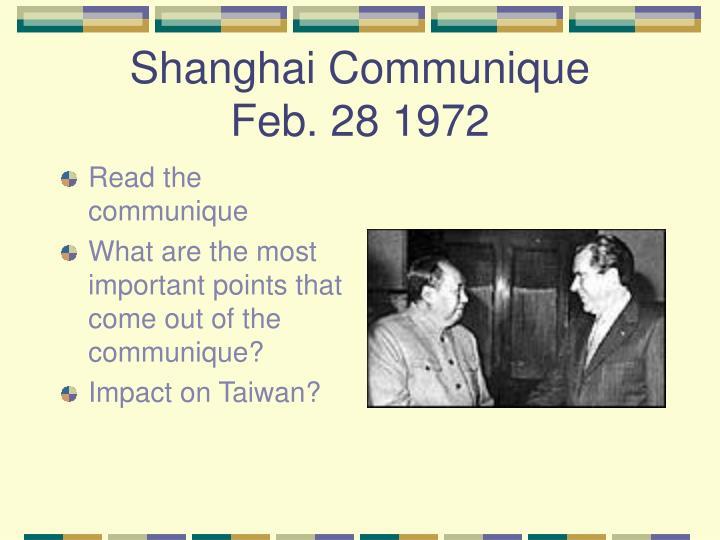 Shanghai Communique