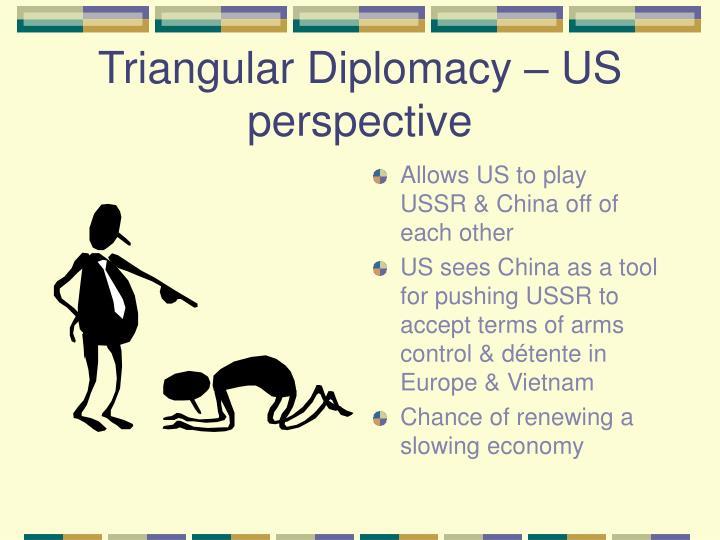 Triangular Diplomacy – US perspective