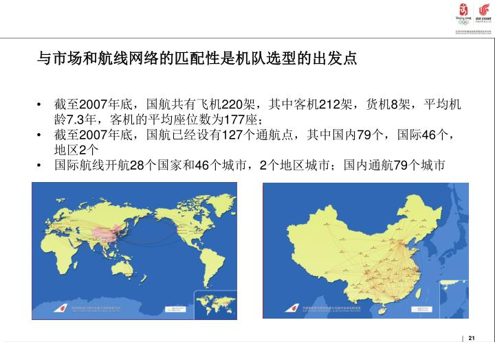 与市场和航线网络的匹配性是机队选型的出发点