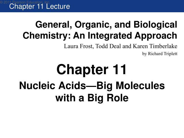 nucleic acids big molecules with a big role n.