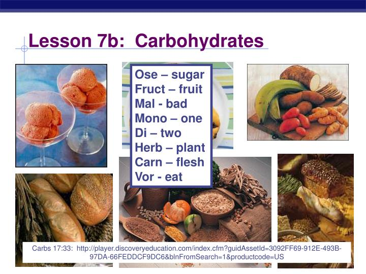 lesson 7b carbohydrates n.