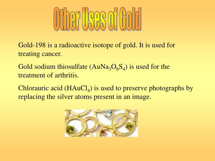 Other Uses of Gold