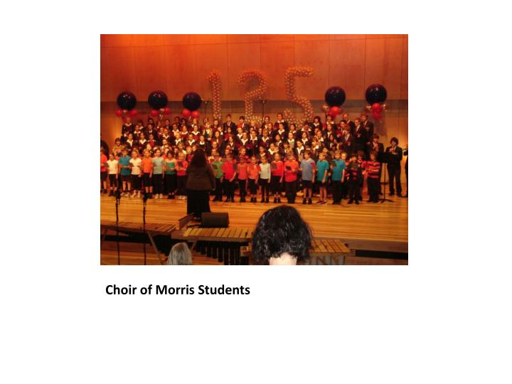 Choir of morris students