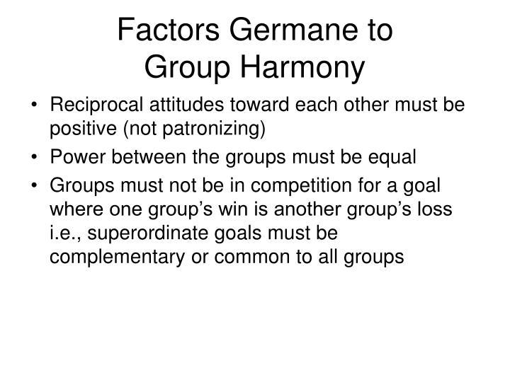 Factors Germane to