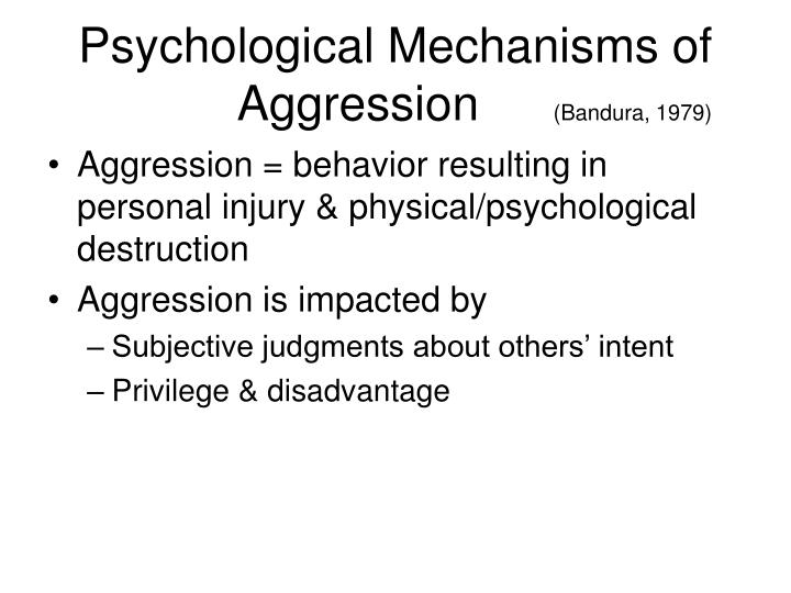 Psychological Mechanisms of Aggression