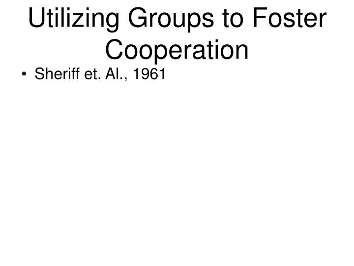 Utilizing Groups to Foster Cooperation