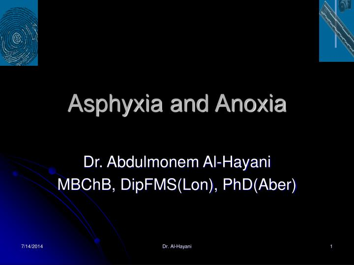 asphyxia and anoxia n.
