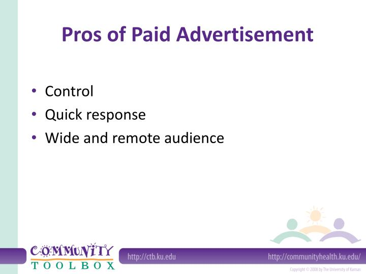 Pros of Paid Advertisement