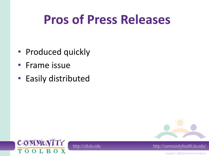 Pros of Press Releases