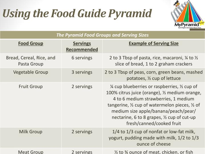 Using the Food Guide Pyramid