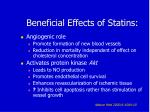 beneficial effects of statins