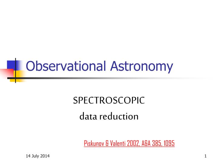 observational astronomy n.