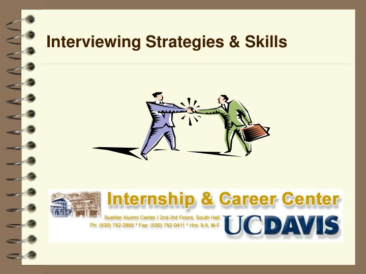 interviewing strategies skills