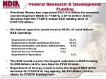 federal research development funding