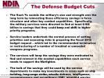 the defense budget cuts