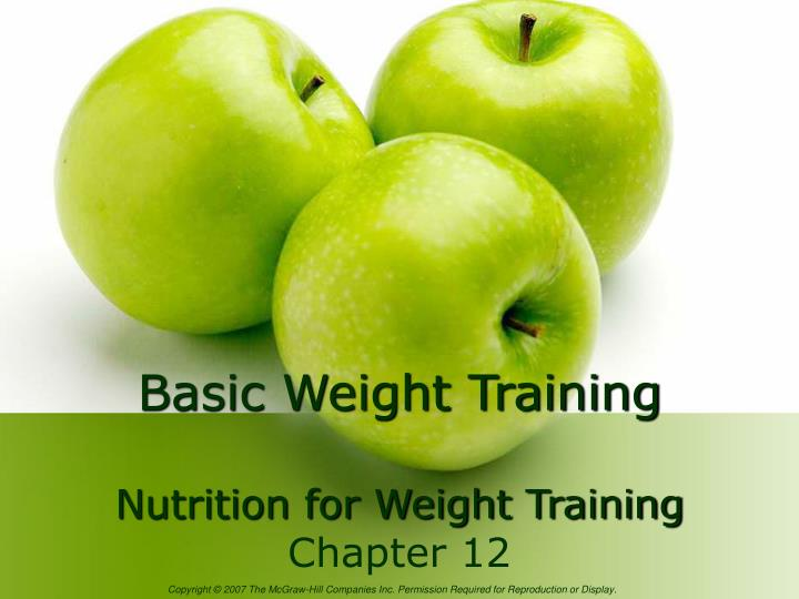 Basic weight training nutrition for weight training