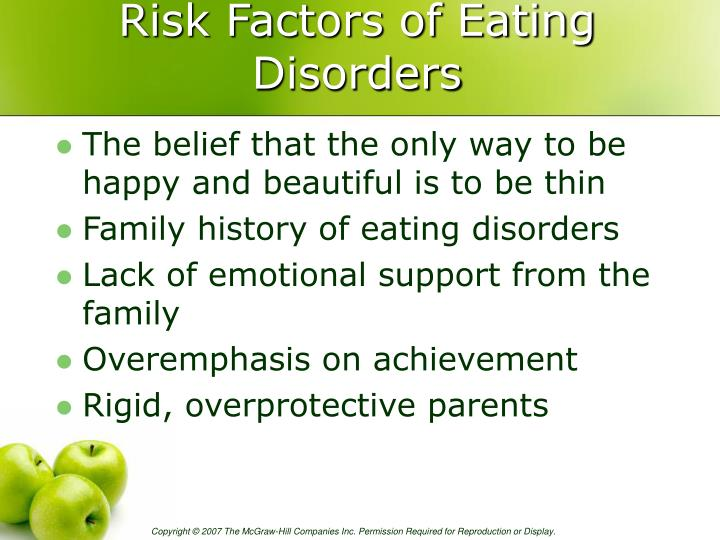 Risk Factors of Eating Disorders