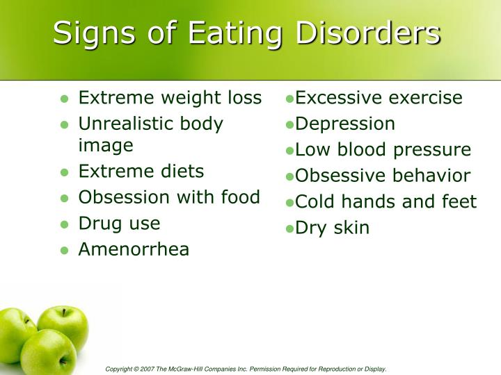 Signs of Eating Disorders