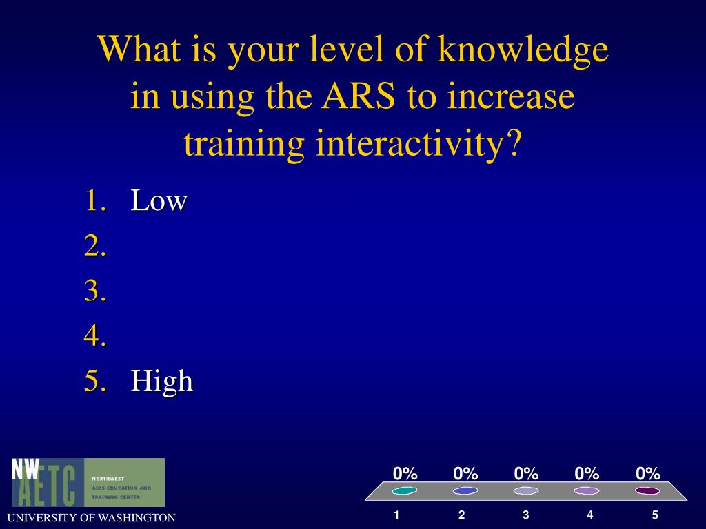 Using Ars For Training And Evaluation