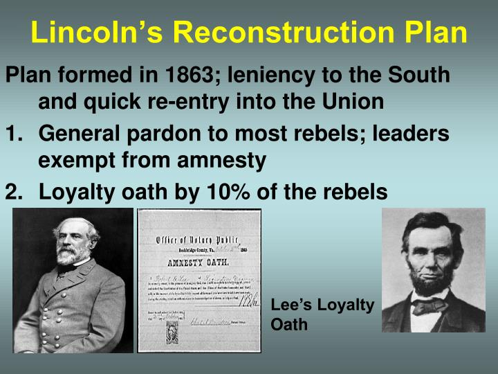 the differences in lincolnís reconstruction plan and congressís reconstruction plan essay Throughout the reconstruction period, 3 plans were proposed: lincoln's plan, johnson's plan, and the radical republican plan indeed, not all aspects of reconstruction were successful, but the primary goal of reconstruction was accomplished, which makes it.
