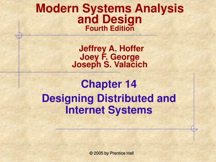 chapter 14 designing distributed and internet systems n.