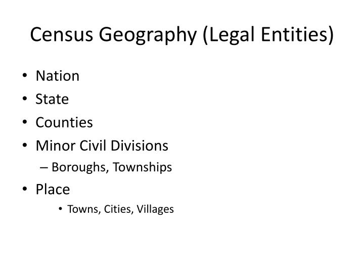 census geography legal entities n.