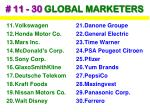 11 30 global marketers