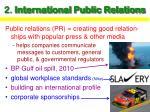 2 international public relations